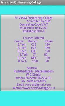 AP Engg Colleges Info apk screenshot