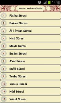 Kuran-ı Kerim Tefsiri apk screenshot