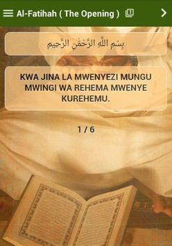 Qurani Tukufu Swahili apk screenshot