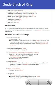 Guide Clash of King apk screenshot