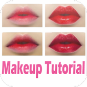 Makeup Tutorial + easy step icon