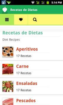 Recetas de Dietas poster