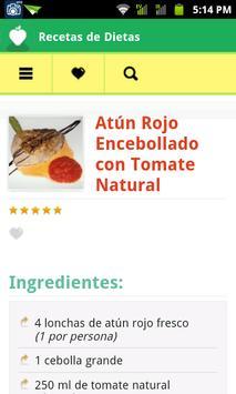 Recetas de Dietas apk screenshot