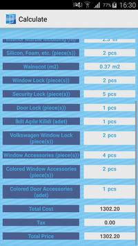 PVC Mobile Window Calculation apk screenshot