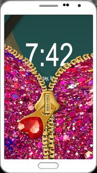 Nail Giltter Zipper LockScreen apk screenshot