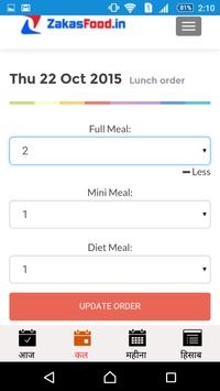 ZakasFood Daily Meals apk screenshot