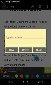 Lit Pub (epub reader) apk screenshot