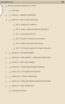 Kasambahay Law apk screenshot