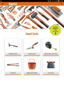Kapriol: Tools catalogue apk screenshot