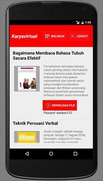 Karyavirtual Ebookreader apk screenshot