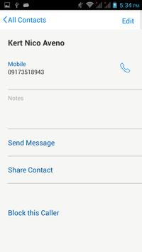 Contact apk screenshot