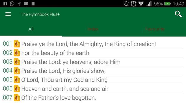 The Hymnbook apk screenshot