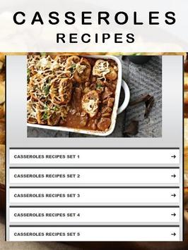 Casseroles recipes poster
