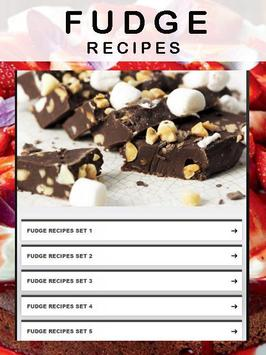 Fudge recipes apk screenshot