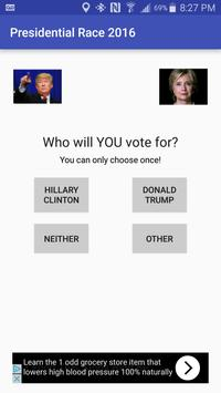 Presidential Race 2016 poster