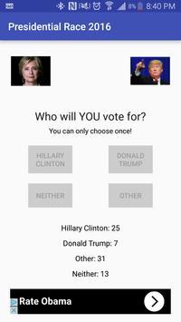 Presidential Race 2016 apk screenshot