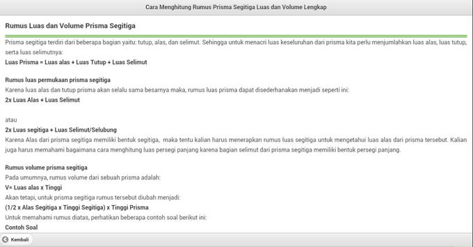 Rumus Matematika SMP apk screenshot