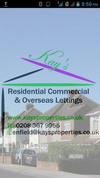 Kays Letting Agent London poster