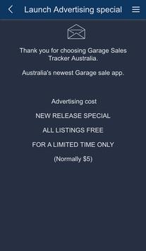 Garage Sale Tracker Australia apk screenshot