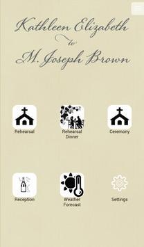 Kathleen L & Joseph B Wedding poster
