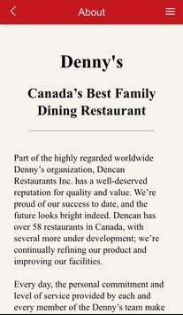 Denny's Canada apk screenshot