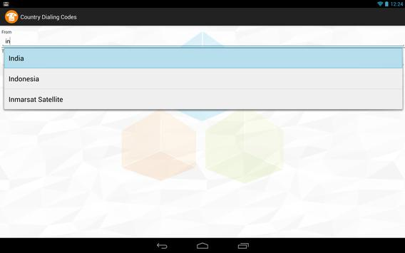 Country Dialing Codes apk screenshot
