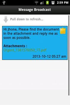 Message Broadcast apk screenshot