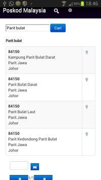 Poskod Malaysia apk screenshot