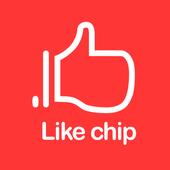 Like chip(라이크칩,좋아요칩) icon