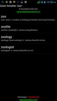 English - Mizo Dictionary Lite apk screenshot