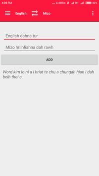 English <=> Mizo Dictionary apk screenshot