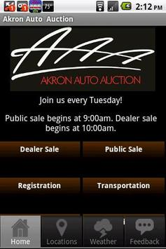 Akron Auto Auction poster