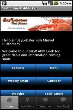 BayLobsters Fish Market poster