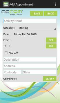 OFCOM CRM for Appointment apk screenshot