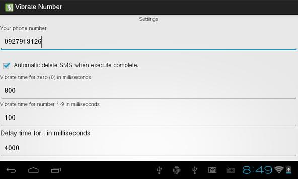 Message Vibrate apk screenshot