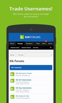 Forums & Usernames For Kik apk screenshot