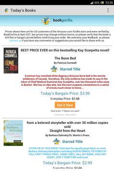 BookGorilla: Kindle Book Alert poster