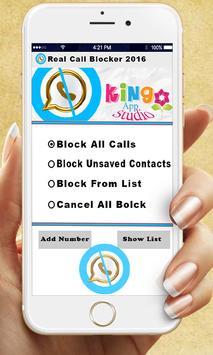 Real Call Blocker 2016 apk screenshot