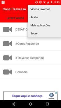 Canal Travessa Oficial apk screenshot