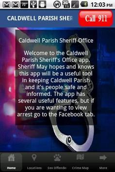 Caldwell Parish Sheriff Dept poster
