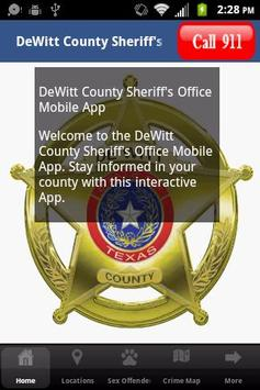 DeWitt County Sheriff's Office poster