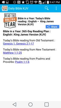 Daily Bible Reading - KJV apk screenshot
