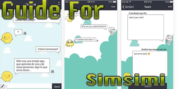 Guide for simsimi poster