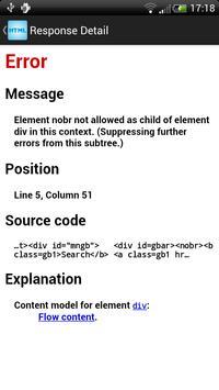 HTML Validator apk screenshot