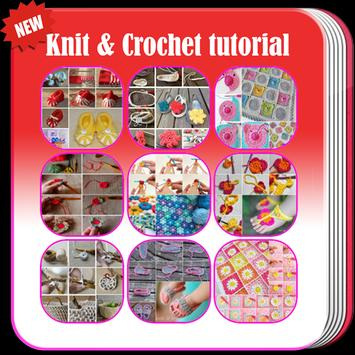 Knit and Crochet tutorial poster