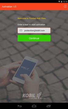 Kobil Trusted Web View-Browser apk screenshot