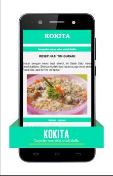 KOKITA - Resep Sehat Balita apk screenshot