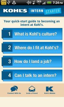 Kohl's Intern Starter App poster