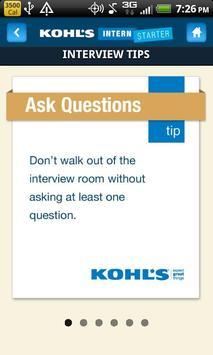 Kohl's Intern Starter App apk screenshot