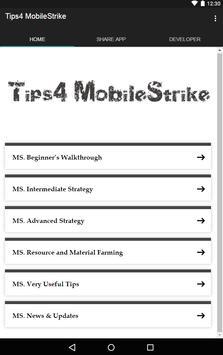 Tips4 Mobile Strike poster